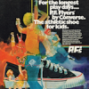 "Converse PF Flyers ""For the longest play days … P.F Flyers by Converse. The athletic shoe for kids."""