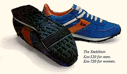 I couldn t wait to try my new shoes. The next day I stood looking down a mile cinder track wearing my brand-spanking-new blue shoes