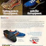 "Etonic Stabilizer running shoes ""Nothing protects this equipment, quite like this equipment."""
