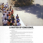 "Nike ""A MATTER OF CONSCIENCE."""