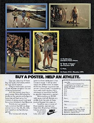 "Nike ""BUY A POSTER. HELP AN ATHLETE."""