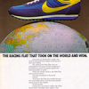 "Nike Elite running shoes ""THE RACING FLAT THAT TOOK ON THE WORLD AND WON."""