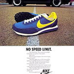 "Nike Elite running shoes ""NO SPEED LIMIT."""