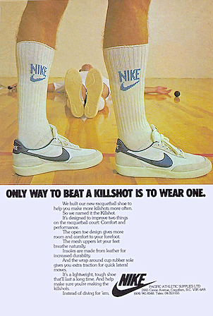 Nike Killshot racquetball shoes