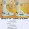 """Nike Killshot racquetball shoes """"ONLY WAY TO BEAT A KILLSHOT IS TO WEAR ONE."""