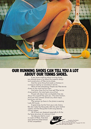Nike Lady All Court tennis shoes
