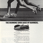 "Nike LD-1000 running shoes ""THE RUNNING SHOE BUILT BY RUNNERS."""