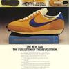 """Nike LDV running shoes """"THE NEW LDV. THE EVOLUTION OF THE REVOLUTION."""""""