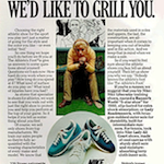 """Nike Liberator / Lady All Court / Lady Roadrunner The Athlete's Foot """"BEFORE WE FIT YOU WE'D LIKE TO GRILL YOU."""""""