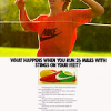 "Nike Sting running shoes ""WHAT HAPPENS WHEN YOU RUN 26 MILES WITH STINGS ON YOUR FEET?"""