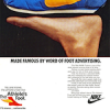 "Nike Waffle Trainer running shoes ""MADE FAMOUS BY WORD Of FOOT ADVERTISING."""