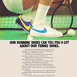 "Nike Wimbledon tennis shoes ""OUR RUNNING SHOES CAN TELL YOU A LOT ABOUT OUR TENNIS SHOES."""