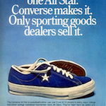 "Converse One Star suede ""There is only one All Star. Converse makes it. Only sporting goods dealers sell it."""