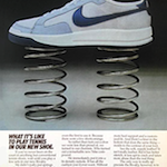"Nike Rivalry tennis shoes ""WHAT IT'S LIKE TO PLAY TENNIS IN OUR NEW SHOE."""