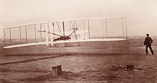 First flight of the Wright Flyer I, December 17 1903