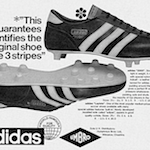 "adidas 2000 / La plata Soccer Boots ""This label guarantees and identifies the original shoe with the 3 stripes"""