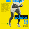 "adidas 9,9 track shoes ""100 m in 9,9"""