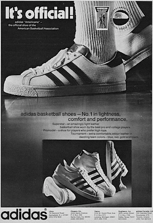 adidas Americana / Superstar / Promodel / Tournament basketball shoes