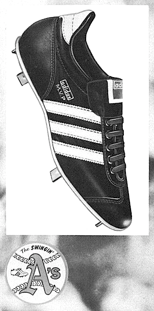 "adidas M.V.P. baseball shoes ""Oakland A's & adidas"""