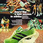 """adidas Spider track shoes """"Every day a new success in adidas"""""""