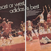 "adidas Superstar / Americana basketball shoes ""east or west adidas is best"""