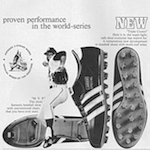 "adidas Triple Crown / M.V.P. baseball shoes ""ADIDAS HAS MET THE CHALLENGE"""