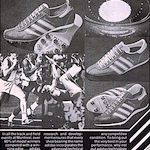 """adidas adistar 2000 / Shot and Discus shoes / Long jump shoes """"adidas traction … to go faster, further, higher"""""""