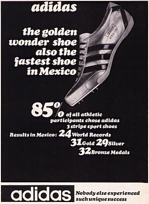adidas Azteca Gold track shoes