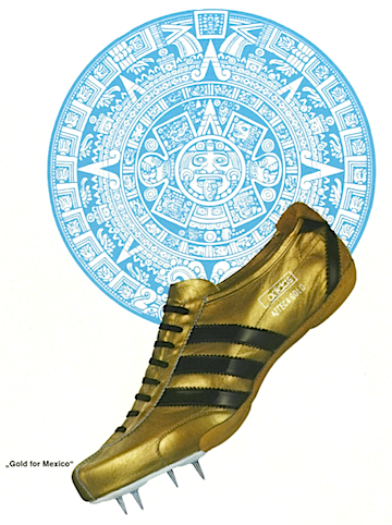 adidas Azteca Gold track shoes