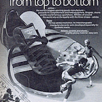 """adidas Racer track shoes """"adidas – from top to bottom"""""""