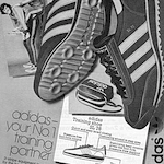 "adidas SL'76 training shoes ""adidas – your No.1 training partner"""
