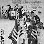 "adidas track & field and training shoes ""No.1 in Olympics"""