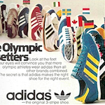 "adidas track & field and training shoes ""The Olympic Pacesetters"""