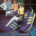 "adidas training shoes and training suits ""adidas puts you on the right footing"""