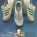 "adidas Nastase tennis shoes ""great from every angle"""