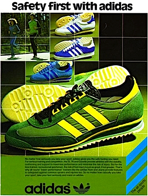 J'arrête Classic Gagne Green Défi J'y Adidas 1970's Striped Shoes FTOWSPP4