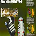 """adidas WM Top-Star / Leeds / Burnley soccer shoes """"adidas WM Top-Star Spitzen-Fußballschuh für die WM'74"""""""