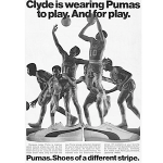 "Puma Clyde basketball shoes ""Clyde is wearing Pumas to play. And for play."""