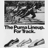 "Puma #297 / #19.8 / #165 Track & Field, training shoes ""The Puma Lineup. For Track."""