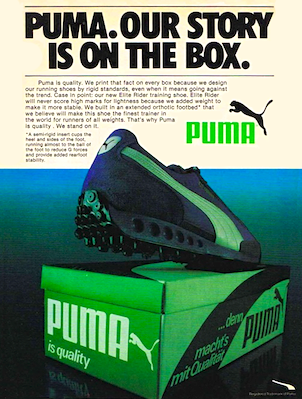 PUMA. OUR STORY IS ON THE BOX.