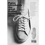 "Puma Basket ""Puma introduces the great leather basketball shoe."""