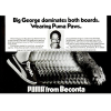 "Puma basketball shoes – Big George McGinnis ""Big George dominates both boards. Wearing Puma Paws."""