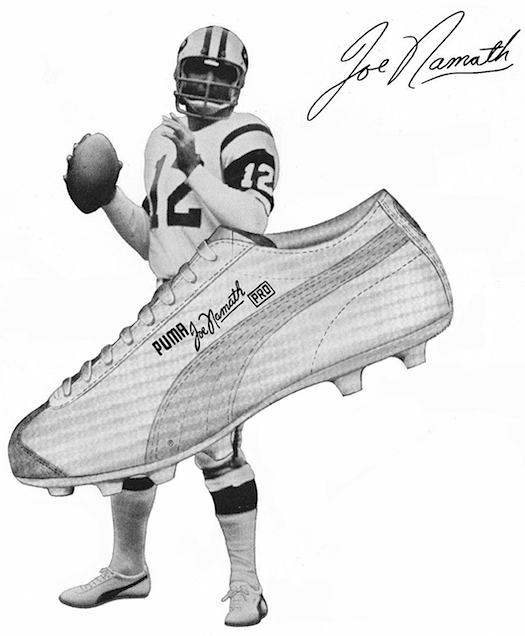 Puma Joe Namath football shoes