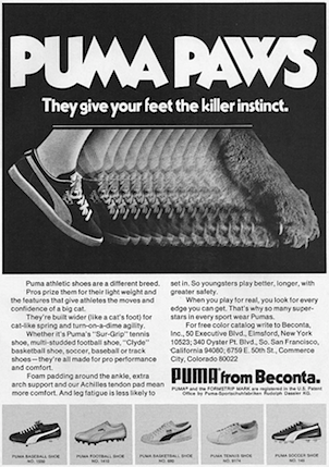 PUMA PAWS They give your feet the killer instinct.