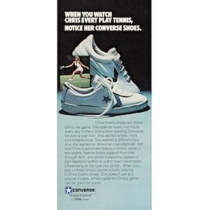 """94bba98970ee Converse Chris Evert tennis shoes """"When you watch Chris Evert play ..."""