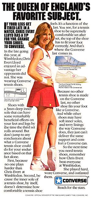 Converse Chris Evert tennis shoes