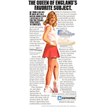 "Converse Chris Evert tennis shoes ""The queen of england's favorite subject."""