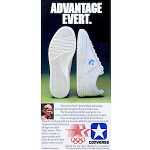 "Converse Chris Evert tennis shoes ""Advantage Evert."""