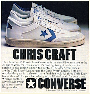 converse Chris Evert Classic tennis shoes