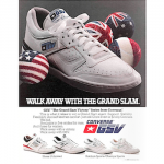 "Converse GSV series Jimmy Connors tennis shoes ""Walk away with the Grand Slam."""